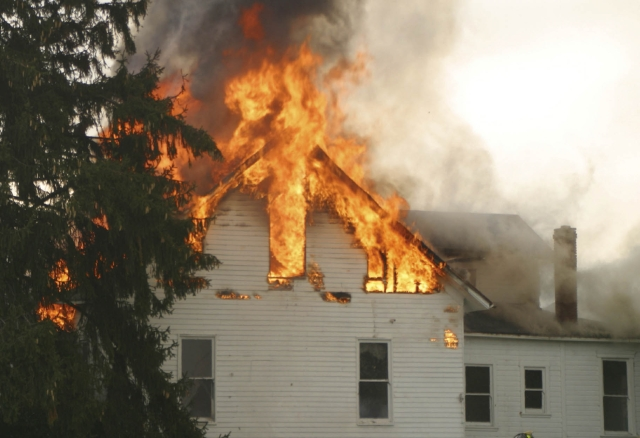 Public Insurance Adjuster - Home on Fire